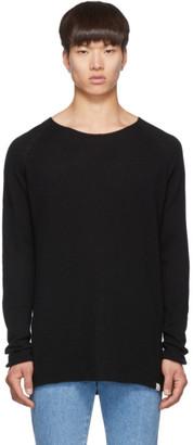 Junya Watanabe Black Merz B. Schwanen Edition Wool and Silk Knit Sweater