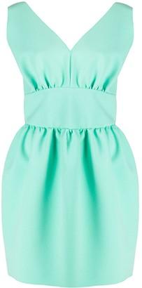 MSGM v-neck mini dress