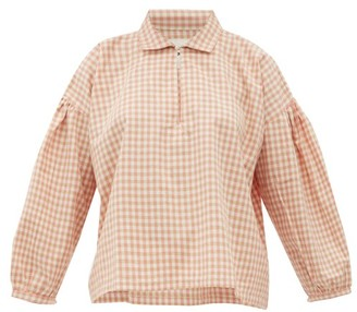 story. Mfg - Amber Gingham Organic Cotton Shirt - Womens - Pink Multi