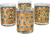 One Kings Lane Vintage Green & Gold Cocktail Glasses, S/4