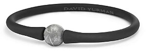 David Yurman Spiritual Beads Stone Rubber Bracelet with Meteorite