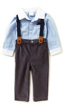 Starting Out Baby Boys 3-24 Months Button-Down Shirt, Pants, & Suspenders 3-Piece Set