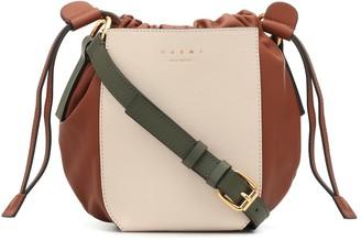 Marni Gusset leather crossbody bag
