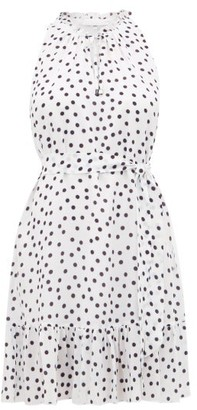 Heidi Klein Santa Margherita Ligure Polka-dot Silk Mini Dress - Womens - White Print