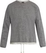 HELBERS Raw-edge cotton sweatshirt