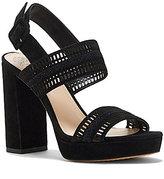Vince Camuto Jazelle Suede Cutout Detail Slingback Block Heel Dress Sandals