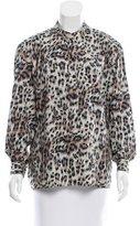 Chloé Leopard Print Long Sleeve Top