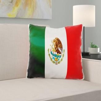 East Urban Home Valmar Mexican Flag Pillow Cover