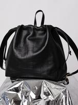 discount designer handbags jeao  Danielle Foster Bella Rucksack in Black Croc Leather