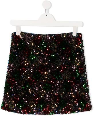Gaelle Paris Kids TEEN sequin mini skirt