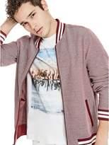 G by Guess Men's Glazer Pique Bomber Sweatshirt