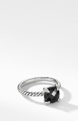 David Yurman Chatelaine® Ring with Semiprecious Stone and Diamonds