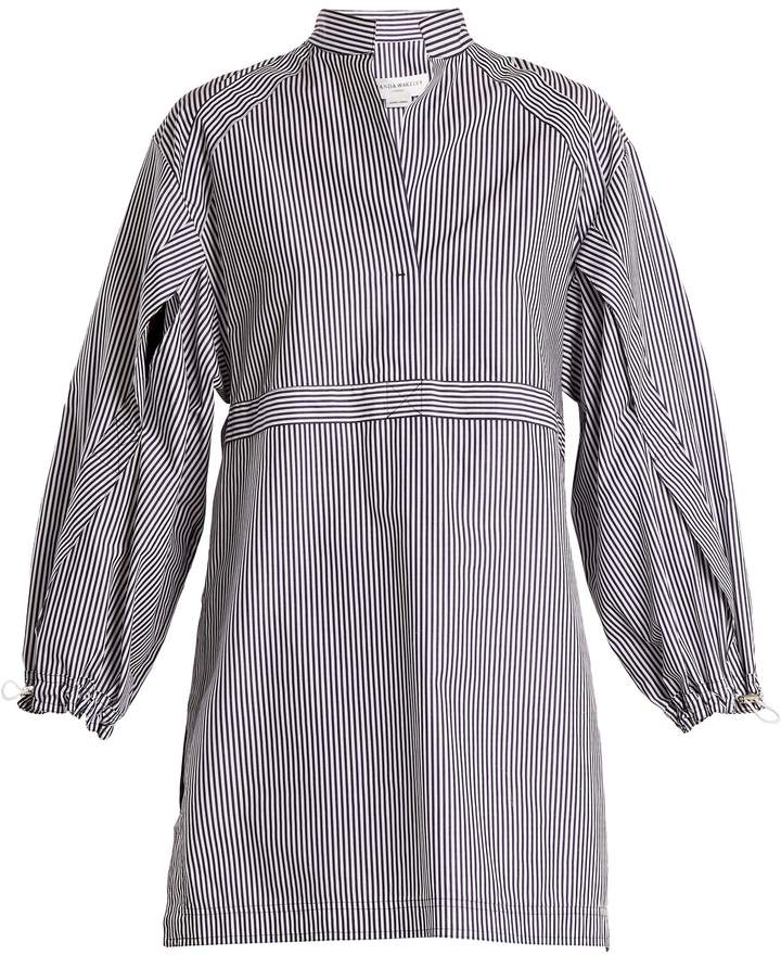 Amanda Wakeley Kansai striped cotton-poplin shirtdress