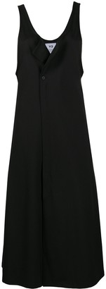 Y-3 Draped-Neck Pinefore Dress