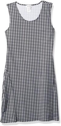 Star Vixen Women's Petite Classic Str Ponte Knit Slvlss Midi-Length Sheath