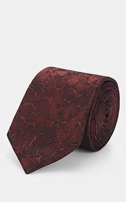 Lanvin Men's Abstract-Pattern Silk Necktie - Red