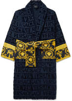 Versace - Logo-Jacquard Panelled Cotton-Terry Robe
