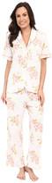 Carole Hochman Floral Cotton Capris Pajama