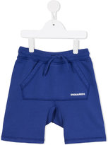 DSQUARED2 kangaroo pocket shorts - kids - Cotton - 8 yrs