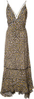 Derek Lam Lace Inset Cami Dress With Pleated Hem