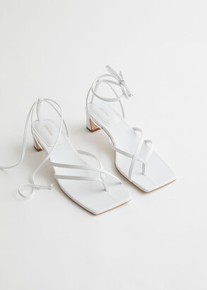 And other stories Thong Strap Heeled Leather Sandals