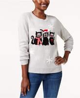 Karen Scott Petite Embellished Sweater, Created for Macy's