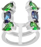 Bliss Jewel-Tone Cubic Zirconia & Silvertone Open Ring