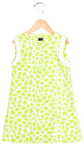 Oscar de la Renta Girls' Abstract Print Sleeveless Dress