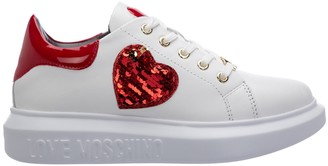 Love Moschino Sequin Heart Detailed Sneakers