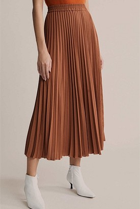 Witchery Pleated Twill Skirt