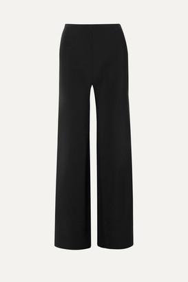 Rosetta Getty Twill Wide-leg Pants - Black