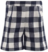 Il Gufo Navy And Off White Short