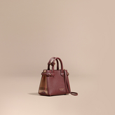 Burberry The Baby Banner in Leather and House Check