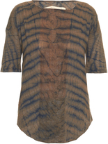 Raquel Allegra Tie-dye shredded-jersey top