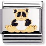 Nomination 18ct Gold and Enamel Panda Classic Charm 030212/39