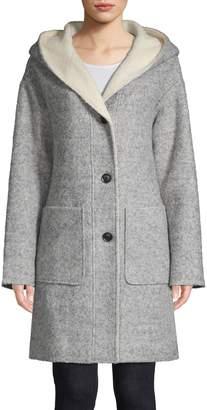 London Fog Boucle Sweater Coat