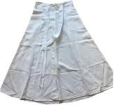Sessun White Linen Skirt for Women