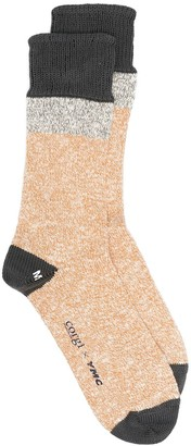 YMC x Corgi melange knit socks