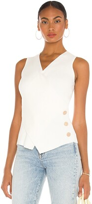 MILLY Wrap Front Top