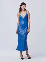 Diane von Furstenberg Havita Embellished Slip Dress