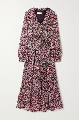 MICHAEL Michael Kors Ruffled Floral-print Georgette Midi Wrap Dress