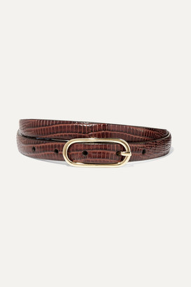 Andersons Lizard-effect Leather Belt - Brown