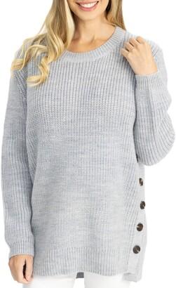 Angel Maternity Oversize Maternity/Nursing Sweater