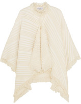 Sonia Rykiel Striped Cotton Poncho - Ecru