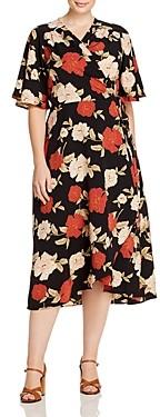 Baobab Collection Orna Floral Print Wrap Dress