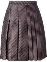 Diane von Furstenberg high-rise pleated skirt