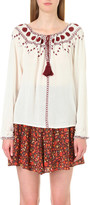 The Kooples Embroidered woven top