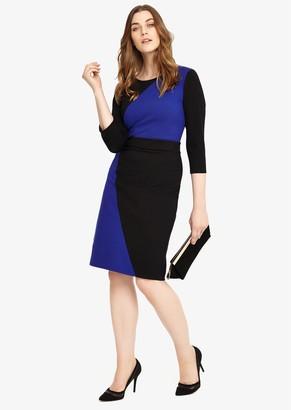 Studio 8 Caitlin Dress, Cobalt/Black