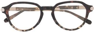 Brioni Tortoiseshell Round-Frame Glasses