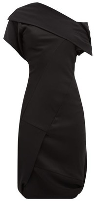 Vivienne Westwood Amnesia Asymmetric Crepe And Satin Dress - Womens - Black